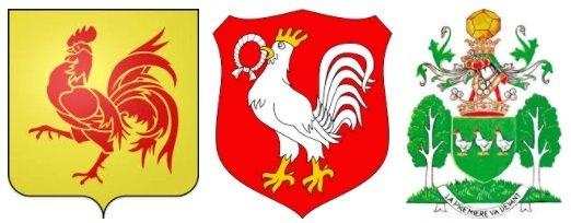 Петух в геральдике и курица в гербах, национальных символах.