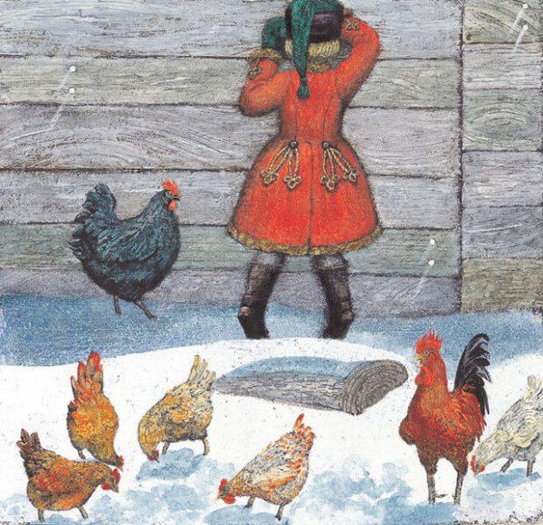 Рисунок к сказке Черная курица, или Подземные жители.