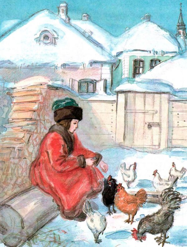 Иллюстрация к сказке Черная курица, или Подземные жители.