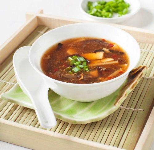 Острый кисло-сладкий суп c курицей.
