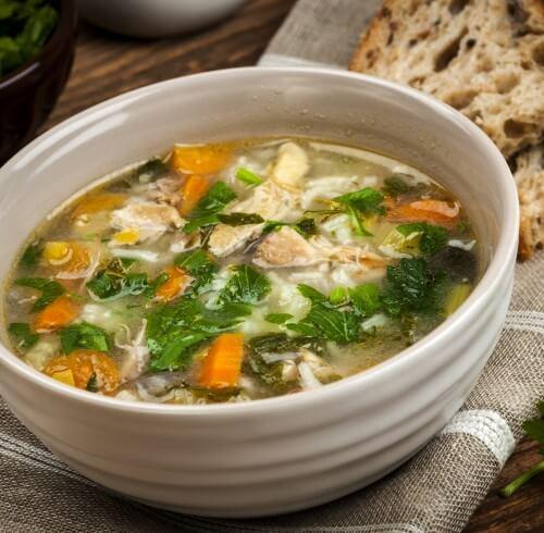 Суп из куриных потрошков.