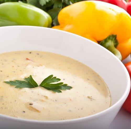 Куриный крем-суп с сыром: французский обед