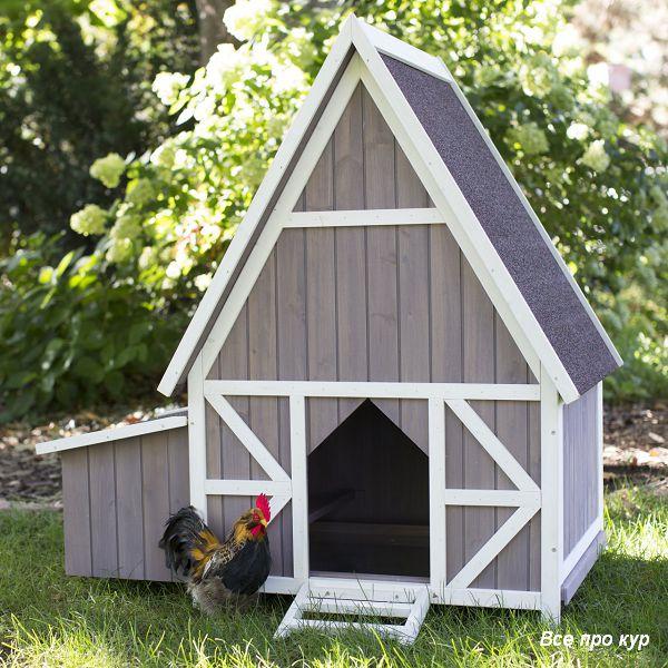 Домик-курятник на 3-5 кур для дачи на лето.