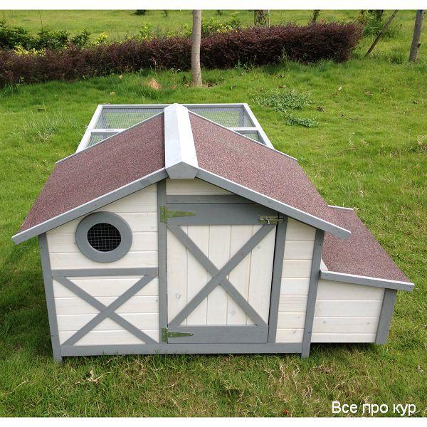 Домик на 3-5 кур с выгулом для дачи и сада на лето.