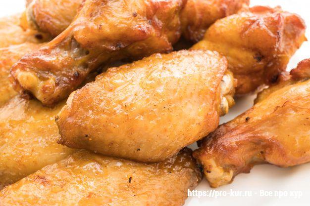 Жареная курица.