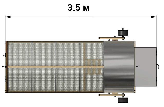 Передвижной курятник на колесах — чертежи и схемы.