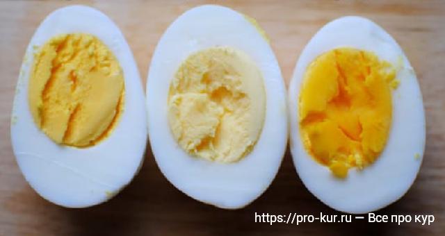 Цвет желтка куриных яиц от бледного до ярко оранжевого.
