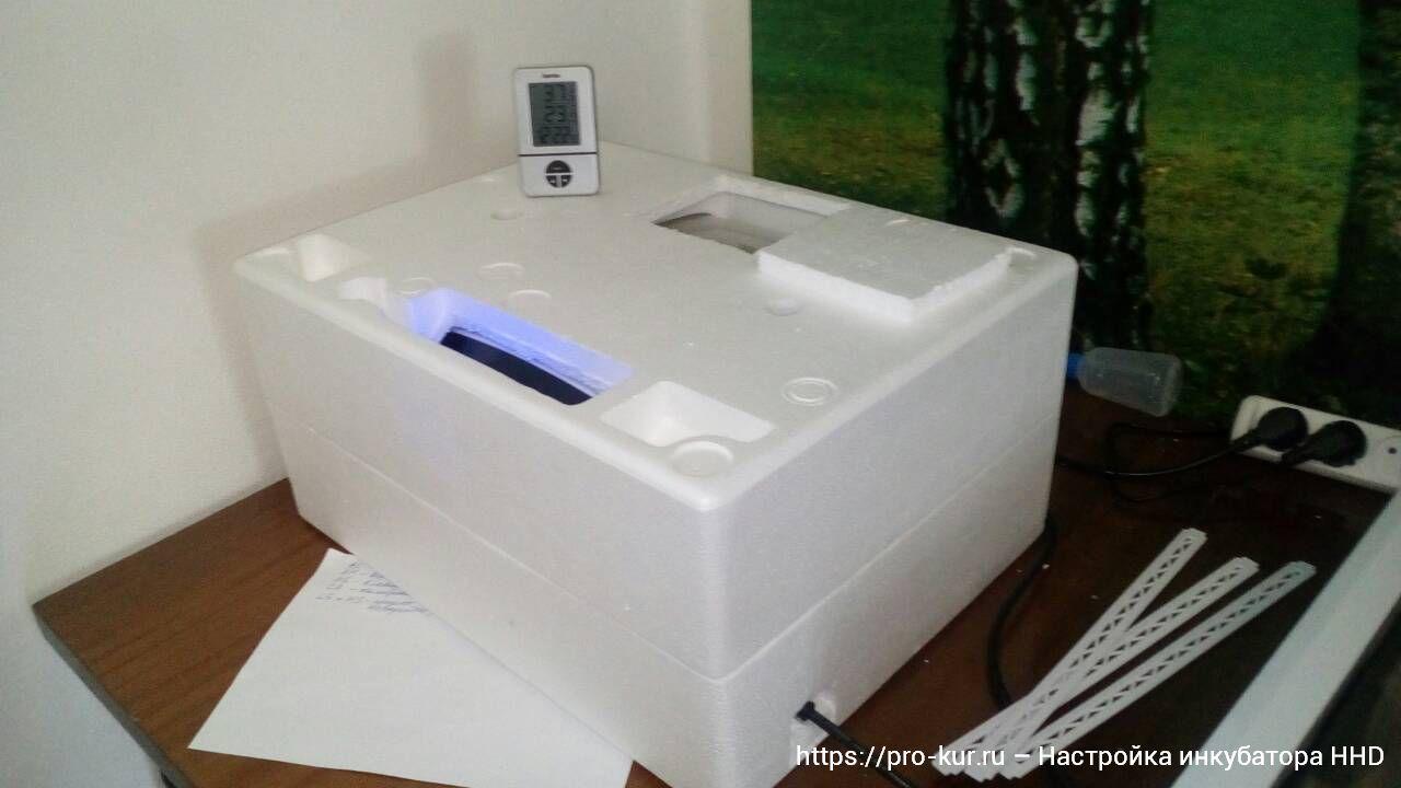 Инкубаторы HHD на 32 и 36 яиц настройка дисплея.
