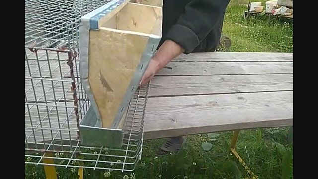 Бункерная кормушка для перепелов на даче.