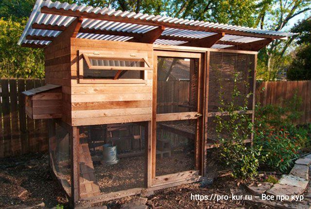 Дачный курятник кубик с выгулом на 10 кур несушек на лето.